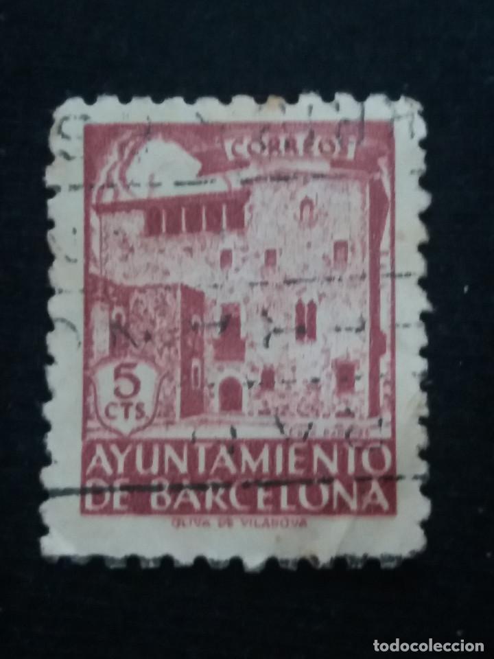 SELLO CORREOS AYUNTAMIENTO DE BARCELONA 5 CTS AÑO 1936 USADO. (Sellos - España - Guerra Civil - De 1.936 a 1.939 - Usados)