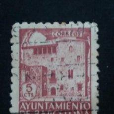 Sellos: SELLO CORREOS AYUNTAMIENTO DE BARCELONA 5 CTS AÑO 1936 USADO.. Lote 141239526