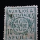 Sellos: SELLO CORREOS AUXILIO A NECESITADOS SEVILLA.- AÑO 1938. USADO. .. Lote 141251330