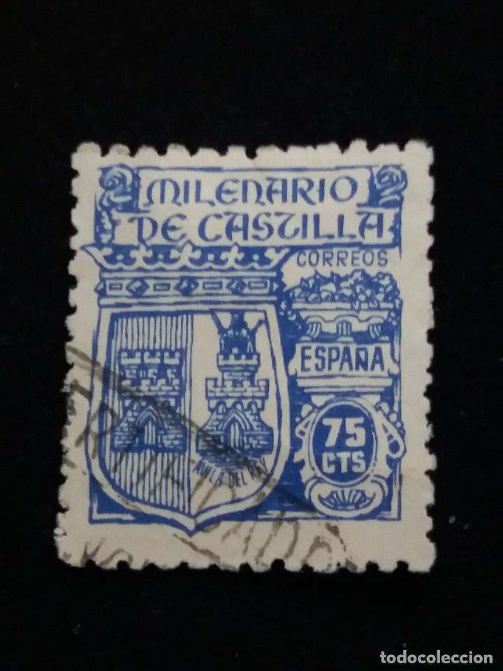 SELLO CORREOS MILENARIO DE CASTILLA 75 CTS. 1944 (Sellos - España - Guerra Civil - Locales - Usados)