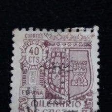 Sellos: SELLO CORREOS MILENARIO DE CASTILLA 40 CTS. 1944. USADO. Lote 141253058