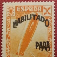 Sellos: BENEFICENCIA. HISTORIA DEL CORREO, HABILITADOS CON NUEVO VALOR, 1940. 5 CTS. + 2 PTS. (Nº 44 EDIFIL). Lote 141272758