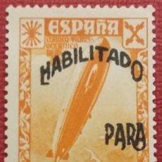 Sellos: BENEFICENCIA. HISTORIA DEL CORREO, HABILITADOS CON NUEVO VALOR, 1940. 10 CTS. + 2 PTS (Nº 51 EDIFIL). Lote 141272914