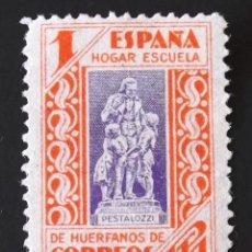 Sellos: HUÉRFANOS CORREOS, EDIFIL 16, SIN MATASELLAR, SIN GOMA. PEDAGOGOS. AÑO 1937.. Lote 141458670