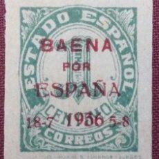Sellos: EMISIONES PATRIÓTICAS. BAENA. SELLOS NACIONALES Y REPUBLICANOS HABILITADOS, 1937 (Nº 11 EDIFIL).. Lote 141678654