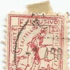 Sellos: COMITE EJECUTIVO ANTIFASCISTA Y FRENTE POPULAR CASTELLON 10 CTS-CON CHARNELA. Lote 141707118