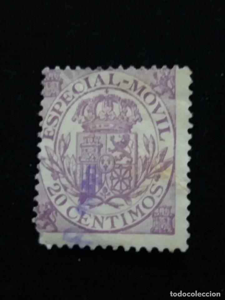 SELLO CORREOS, ESPECIAL MOVIL 20 CTS. AÑO 1939. USADO (Sellos - España - Guerra Civil - De 1.936 a 1.939 - Usados)