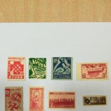 Sellos: GUERRA CIVIL 8 VIÑETAS AÑO 1938. Lote 141737326