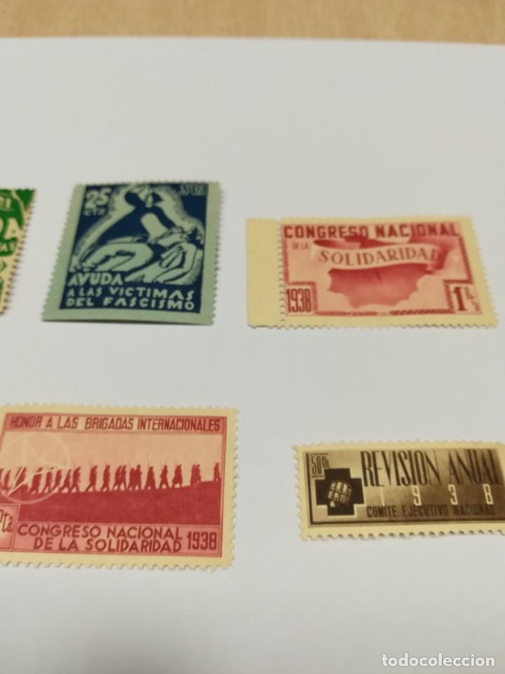 Sellos: Sellos Guerra civil 8 viñetas año 1938 - Foto 3 - 141737326