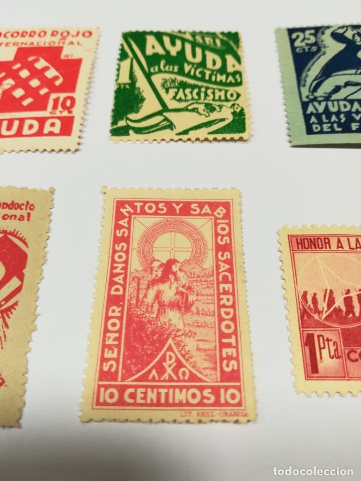 Sellos: Sellos Guerra civil 8 viñetas año 1938 - Foto 9 - 141737326