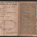 Sellos: PASTRANA--CARNET, U.G.T. Y CUOTA, -TRABAJADORES DE LA TIERRA, 15 CTS- VER FOTOS. Lote 141823762