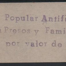 Sellos: GRANADA, 2 PTA.--SOCORRO POPULAR ANTIFASCISTA-- ALLEPUZ Nº 9, VER FOTO. Lote 141829714