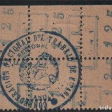 Sellos: ANDALUCIA, C.N.T - M.L. - 1,25 PTAS, BLOQUE DE 6 SELLOS, ALLEPUZ Nº 6, VER FOTO. Lote 141830202