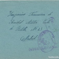 Sellos: CARTA GUERRA CIVIL CENSURA MILITAR OVIEDO HOSPITAL MILITAR DIRECCION. Lote 142229494