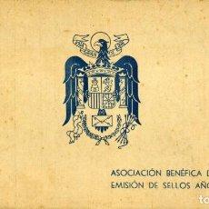Sellos: ESPAÑA. G. CIVIL. CARNET DE LA ASOCIACIÓN BENÉFICA DE CORREOS CON 2 EMISIONES DE SELLOS. MADRID 1944. Lote 142547918