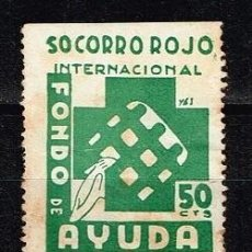 Sellos: SOCORRO ROJO INTERNACIONAL FONDO DE AYUDA (50 CTOS). Lote 142623890
