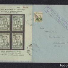 Sellos: 1938.- SAN JUAN DESPÍ (BARCELONA) A PARÍS (FRANCIA).. Lote 142645530
