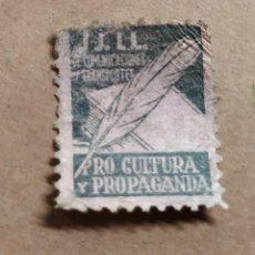 Sellos: VIÑETA GUERRA CIVIL JJ LL JUVENTUDES LIBERTARIAS COMUNICACIONES Y TRANSPORTES PRO CULTURA PROPAGAND. Lote 142818126