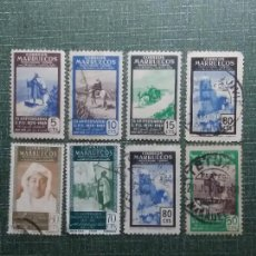 Stamps - 8 sello correos. maruecos protectorado español. usados año 1936. - 142990054