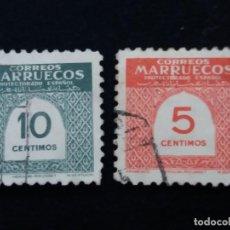 Stamps - 2 sello correos. maruecos protectorado español. usados año 1940. - 142992646