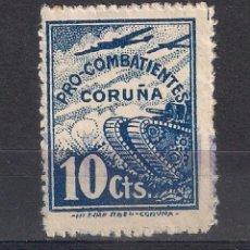 Sellos: ESPAÑA - GUERRA CIVIL- CORUÑA - (*) - 1/31. Lote 143065726
