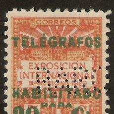 Sellos: BARCELONA TELÉGRAFOS EDIFIL 2(*) MNG TIPO HABILITADO 1930 NL1225. Lote 143249834