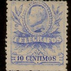 Sellos: ESPAÑA TELÉGRAFOS EDIFIL 40 (º) ALFONSO XIII 10 CÉNTIMOS AZUL 1912 NL105. Lote 143257902