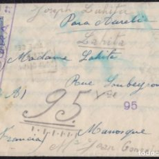 Sellos: 1937. GUERRA CIVIL. CIVIL WAR. SAMPEDOR A MANOSQUE (FRANCIA). CARTA COMPLETA.. Lote 143293142