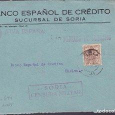Francobolli: HP5-15-GUERRA CIVIL. FRONTAL PAPELES NEGOCIOS SORIA 1937. FISCAL Y CENSURA. Lote 143492162