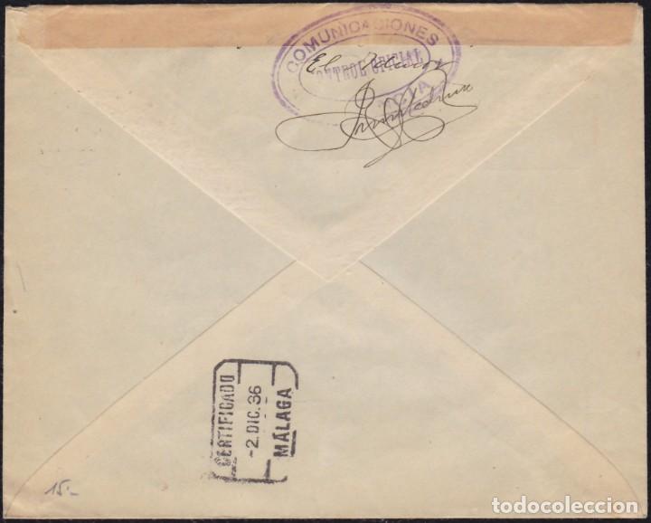 Sellos: 1936. GUERRA CIVIL. CIVIL WAR. MARBELLA A AMBERES. ESPECTACULAR FRANQUEO BICOLOR. - Foto 2 - 143565378