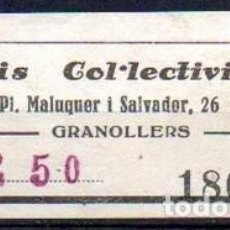 Sellos: GRANOLLERS (BARCELONA). TAXIS COLECTIVIZADOS. Lote 143592350