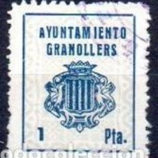 Sellos: GRANOLLERS (BARCELONA). MUN. 1 Y 2PTAS. Lote 143592542