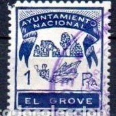Sellos: EL GROVE (PONTEVEDRA). MUN. 1PTA. Lote 143593638