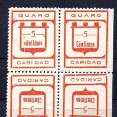 Sellos: GUARO (MÁLAGA). EDIFIL 2II + 2II EN BLOQUE DE 4 SELLOS. Lote 143602762