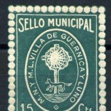 Sellos: GUERNICA (VIZCAYA). MUN. 15CTS. Lote 143604794
