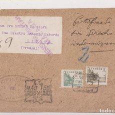 Sellos: FRONTAL. CERTIFICADO A PORTUGAL. MÁLAGA. CENSURA MILITAR. OFILMA.. Lote 143651878