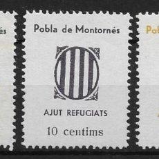 Sellos: POBLA DE MONTORNES (TARRAGONA) EDIFIL NUM. 2/4*. Lote 143790282