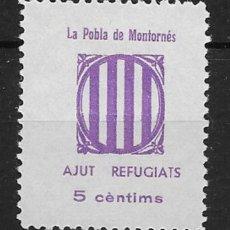 Sellos: LA POBLA DE MONTORNES (TARRAGONA) EDIFIL NUM. 1*. Lote 143791146