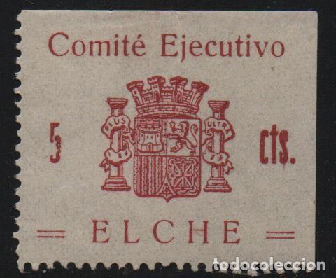 ELCHE, 5 CTS. -COMITE EJECUTIVO-- SOFIMA Nº 1, VER FOTO (Sellos - España - Guerra Civil - De 1.936 a 1.939 - Usados)