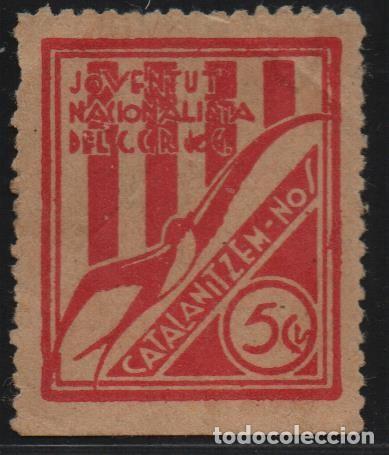 JUVENTUT NACIONALISTA , 5 CTS. --CATALANITZEM-NOS-- VER FOTO (Sellos - España - Guerra Civil - De 1.936 a 1.939 - Usados)
