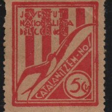 Sellos: JUVENTUT NACIONALISTA , 5 CTS. --CATALANITZEM-NOS-- VER FOTO. Lote 143837122
