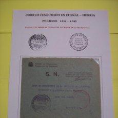 Sellos: SOBRE BURGOS CASA DEL CORDON PRESIDENTE COMISION DE INDUSTRIA COMERCIO Y ABASTOS JUNTA TECNICA. Lote 144245182