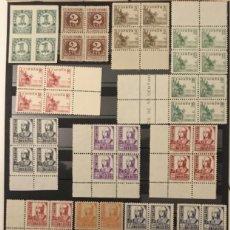 Sellos: 1937-ESPAÑA EDIFIL 814/31 MNH** 814/831 BLOQUE DE 4 - CIFRAS, CID E ISABEL LA CATÓLICA -. Lote 144278870