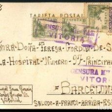 Sellos: GUERRA CIVIL, TARJETA POSTAL, CAMPO CONCENTRACIÓN DE VITORIA, 1939. Lote 144399742