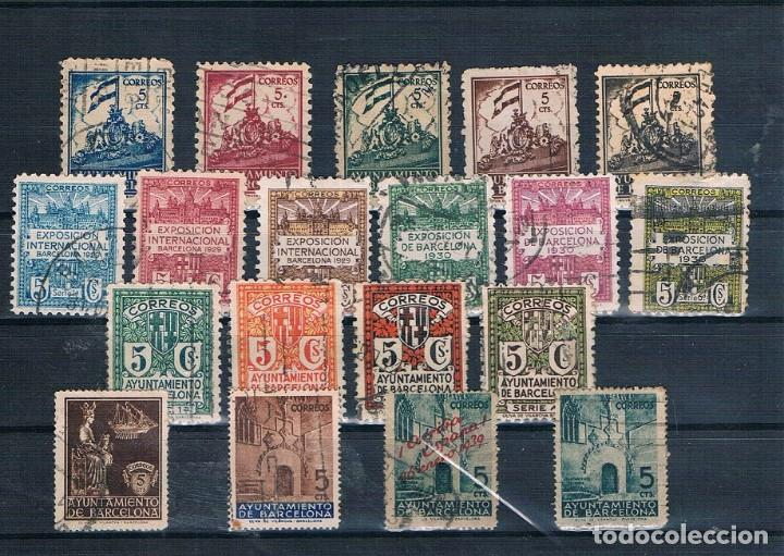 ESPAÑA 7 SERIES USADAS DE BARCELONA 1929 A 1941 VER DESCRIPCIÓN DE SERIES (Stamps - Spain - Spanish Civil War - Local - Used)