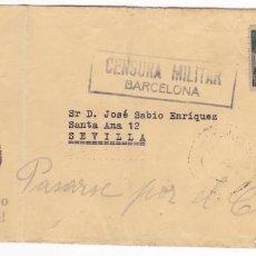Sellos: F4-4- GUERRA CIVIL. CARTA LABORATORIO ARGA BARCELONA 1939. CENSURA,AUXILIO INVIERNO, LOCAL Y URGENTE. Lote 144669290