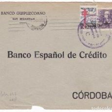 Sellos: F4-6- GUERRA CIVIL. FRONTAL SAN SEBASTIAN . TUBERCULOSOS 1938. VARIEDAD. Lote 144669686