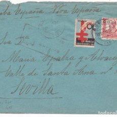 Sellos: F4-6- GUERRA CIVIL. CARTA BURGOS 1937. CENSURA. TUBERCULOSOS VARIEDAD.. Lote 144669830