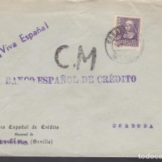 Sellos: F4-7- GUERRA CIVIL. CARTA CONSTANTINA (SEVILLA) 1939. LOCAL Y CENSURA . Lote 144670014