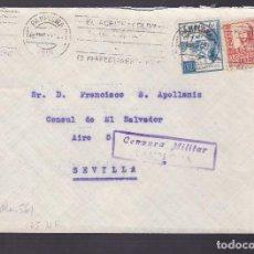 Sellos: F4-8- GUERRA CIVIL. CARTA PAMPLONA 1937 . CRUZADA FRIO Y CENSURA . Lote 144670246